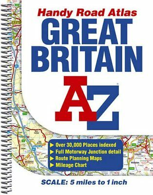 (Good)-A-Z Great Britain Handy Road Atlas: 4.9 Miles to 1 Inch / 3km to 1cm (Spi