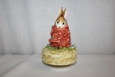 Vintage Beatrix Potter Figural Wind Up Music Box Poorly Peter Rabbit Benjimine