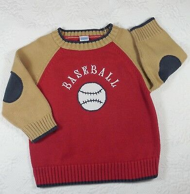 Gymboree ~ Boy's Size 3 'Baseball' Pullover Crewneck Sweater