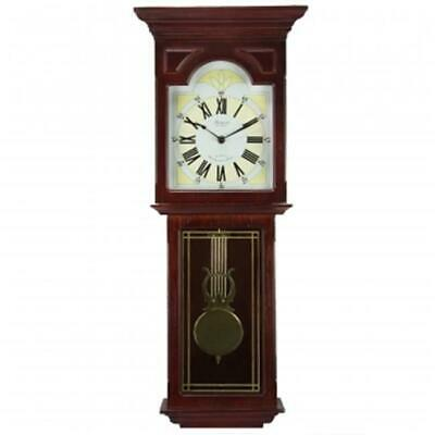 Bedford Clock Collection BED7247 Redwood 23 in. Wall Clock with Pendulum & Chime
