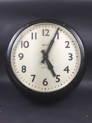 """Large 24"""" Vintage Industrial of SMITHS SECTRIC Factory Station Wall Clock"""