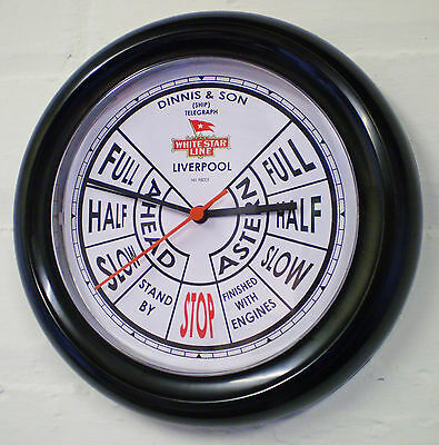 White Star Line, RMS Titanic, Ships Bridge Telegraph Style Wall Clock.