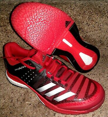 finest selection 023d7 3f9c8 Adidas Crazyflight X Volleyball Shoe Womens Size 6.5 Red Black BA9270 NEW  Boost