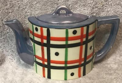 """Vintage Japan Hand Painted China Teapot Lidded Pocket - 5"""" T by 7 3/4"""" W"""