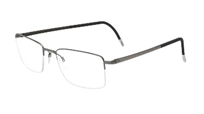 587661144f0 Silhouette Illusion Nylor 5457 metallic silver grey 6080 Eyeglasses