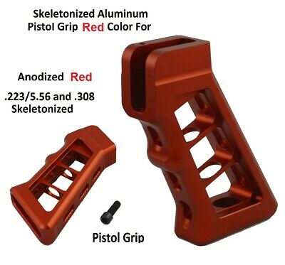 Red Anodized Skeletonized Skeleton Grip Light in Weight for 223 308