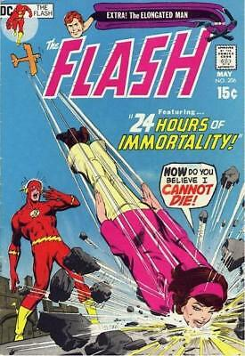 FLASH #206 VG/F, Neal Adams cover, shadows on b/c, DC Comics 1971 Stock Image