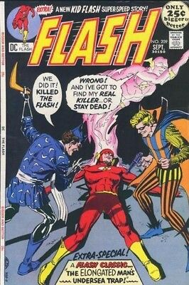 FLASH #209 F, KID FLASH solo story, 48 pages, DC Comics 1971 Stock Image