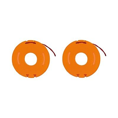WORX WA0004 2-Pack Replacement Grass Trimmer Spool & Line 1.3m (WG169E)