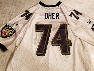 MICHAEL OHER BALTIMORE RAVENS Reebok XXL OLD REPLICA FOOTBALL JERSEY ~Blind  Side 7cfadbb94