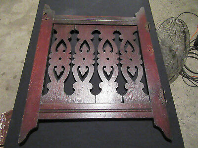 ~ Ornate Antique Oak Baby Gate Fretwork ~ 25 X 31 ~ Architectural Salvage