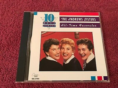 The Andrews Sisters All Time Favorites 10 Best Series 91 CEMA Special Markets CD