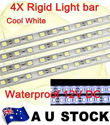 4X 12V 30 LED 5050 SMD Aluminum Rigid Strip Light Cool White Waterproof AU Stock