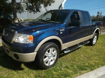 2008 Ford F150 4X4 LARIAT Blue Automatic A