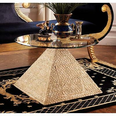 "27"" Great Pyramid of Giza Egyptian Sculpture Glass Table Replica Reproduction"