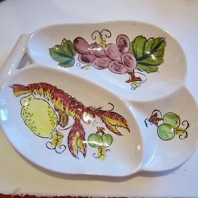 Fabulous Vintage Lobster Dish Made in Japan 1960s Ceramic Serving Plate Retro