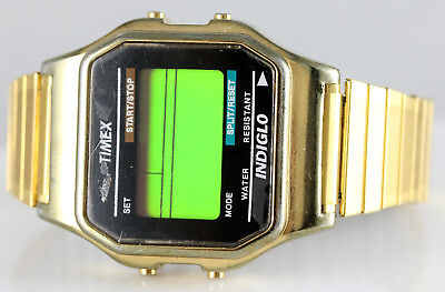 6af869f7b Timex® Men's Classic Digital Gold Tone Expansion Band T78677 Watch Needs  Battery