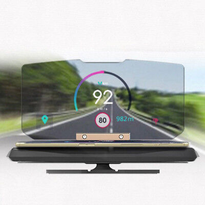 Auto Klapp GPS HUD Halter Head Up Display Projektor Halterung-Navigation Telefon