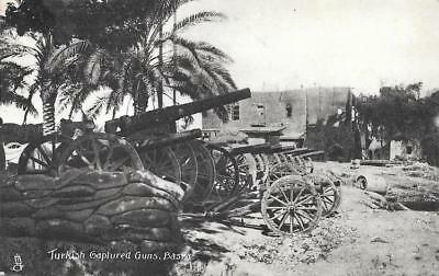 WW1 Captured Turkish Guns at Basra Unused Iraq Postcard by Tucks