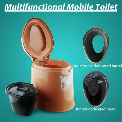 6L Portable Toilet Commode Camping Outdoor/Indoor Toilet Potty Travel Emergency