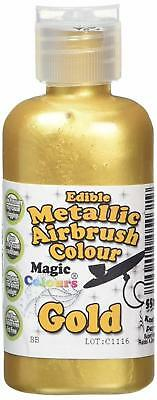 Magic Colours Metallic Edible Airbrush Gold Paint Cake Painting - 1 DAY DELIVERY