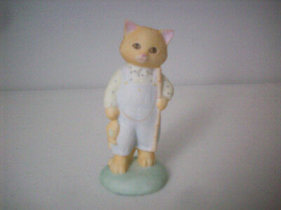 Cat With Fishing Pole and Fish, Cosmopolitan Cats, 1987 Hallmark