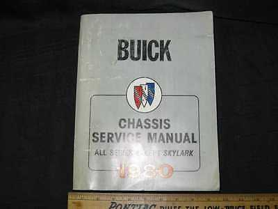 1980 Buick All except Skylark Chassis Shop Manual