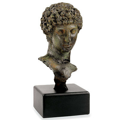 Bust of ancinet Greek Youth or Athlete Bonded Bronze Museum Replica Reproduction