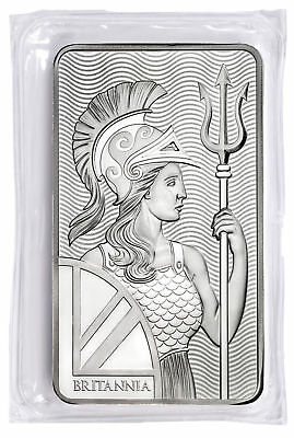 Daily Deal! Royal Mint Britannia 10 Troy oz. .999 Fine Silver Bar SKU55100