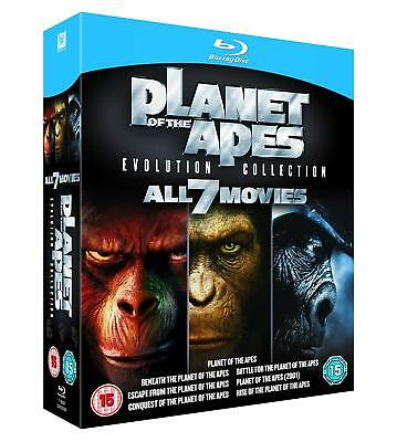 Planet of the Apes: Evolution Collection [Blu-ray Region Free 7 Full Movies] NEW