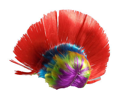 Mohawk Wig Mohican Funny Rock Fancy Dress Party Costume Hair PUNK - Any Size