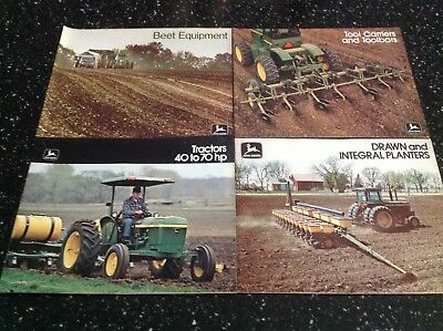 Vintage John Deere Farm Equipment Brochures Lot 5