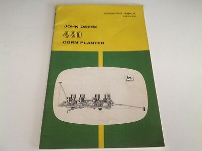 John Deere 490 Corn Planter Operator's Manual OM-B2-856