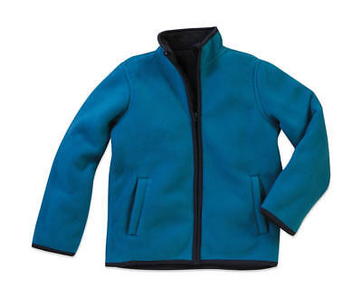 Kinder Sweatjacke Active Teddy Fleece Jacket von Stedman # sweatshirt jacke