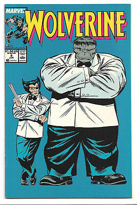 Wolverine 1988 series # 8 Marvel Comics 1989 Mr. Fixit / The Incredible Hulk