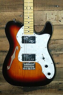 Fender Squier Vintage Modified 72 Telecaster Thinline Electric Guitar 3TSB -NEW