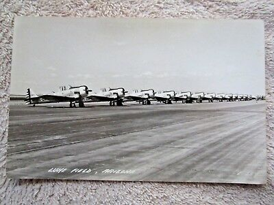 1940's PLANES ON AIRFIELD, LUKE FIELD, PHOENIX, ARIZONA REAL PHOTO POSTCARD