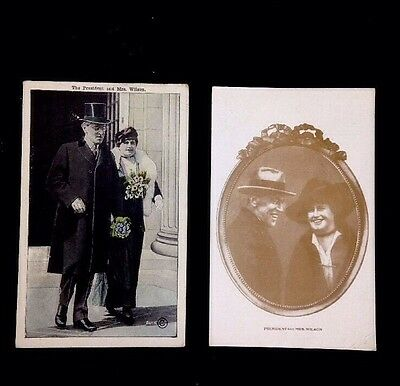 """Vintage Woodrow Wilson """"The President And Mrs. Wilson"""" 2 Postcards Unposted"""