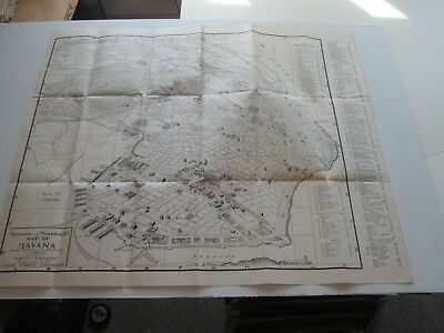 """1950  """"panoramic And Monumental Map Of Havana"""", Cuban Tourist Commission"""