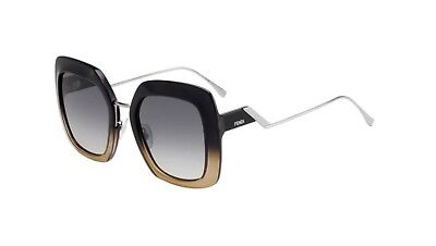 Authentic Fendi FF 0317 S 07C5/PR Black crystal Sunglasses