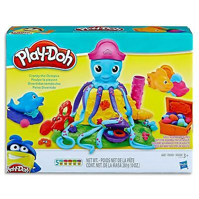 Play Doh Cranky Octopus Set - Cans Modelling Doughs Tools Kids toys games Age 3+