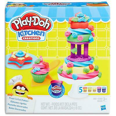 Play Doh Kitchen creations Frost Fun Set - Dough Cans Tools - Toys Games Kids 3+
