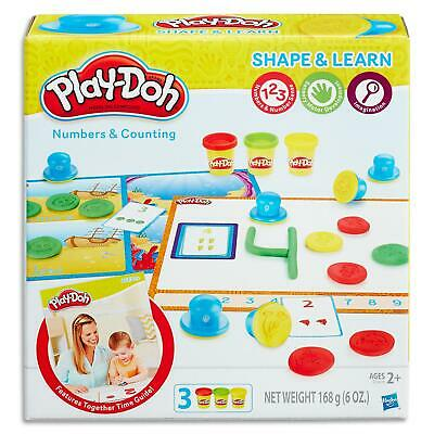 Play Doh Shape & Learn Numbers & Counting Set - Dough & Tools Toys Games Kids 2+
