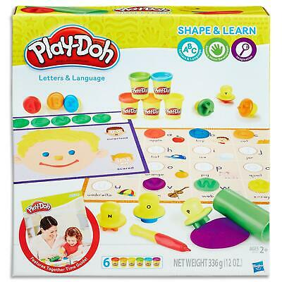 Play Doh Shape & Learn Letters & Language Set - Dough & Tools Toys Games Kids 2+