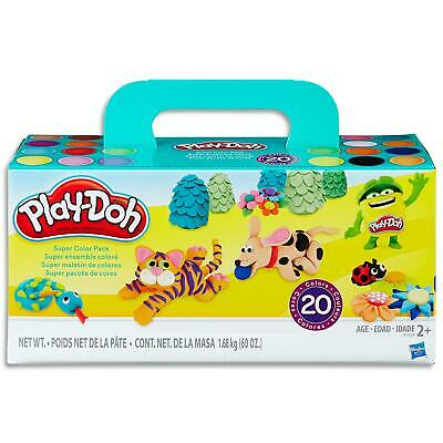 Play Doh  Super Colour Tubs Set - 20 Can of Modelling Dough - Toys Games Kids 2+