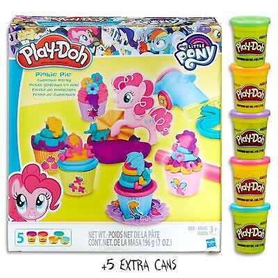 Play Doh My Little Pony Pinkie Pie Cupcake Set & 5 Dough Cans  Kids Toys Ages 3+