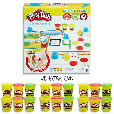 Play Doh Shape & Learn - Numbers Counting Set & 18 Dough Cans  Kids Toys Ages 2+