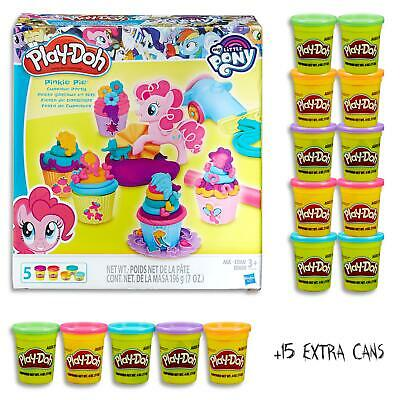Play Doh My Little Pony Pinkie Pie Cupcake Set & 15 Dough Cans Kids Toys Ages 3+