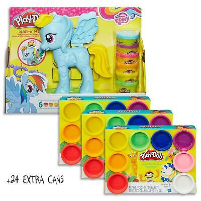 Play Doh My Little Pony Rainbow Dash Style Set & 24 Dough Cans Kids Toys Ages 3+