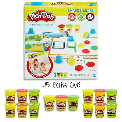 Play Doh Shape & Learn - Numbers Counting Set & 15 Dough Cans  Kids Toys Ages 2+